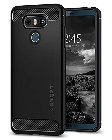 Coque LG G6, Spigen [Rugged Armor] Resistant choc [Noir] Silicone / Protection ultime robuste, Finition matte, Housse Etui Coque LG G6, (A21CS21230)