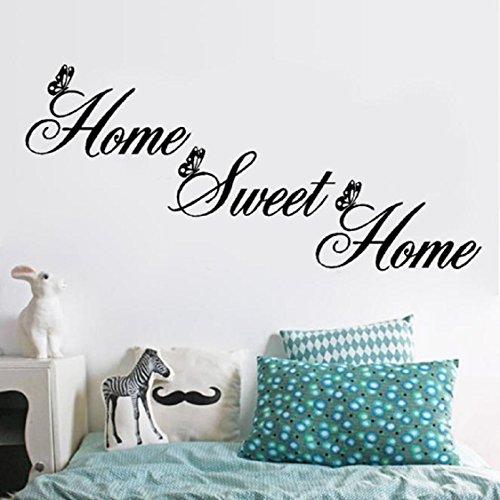 Vovotrade Art Home Sweet Home Decor Stickers muraux DIY amovible vinyle autocollant de mur