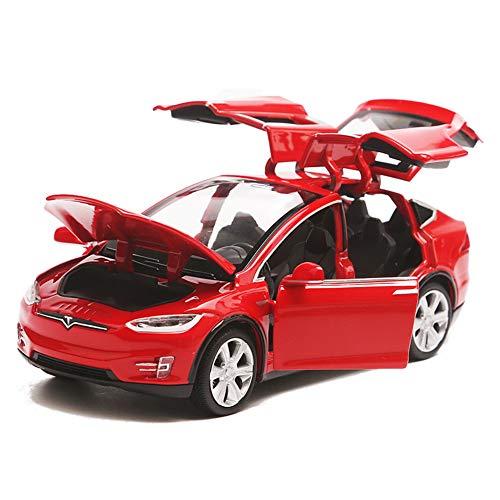 EisEyen Modello di auto Model X 90 - Macchina Giocattolo in Lega 1:32 con Sound & Light Toy per Tesla