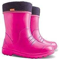 Ultralight Boys Girls Kids Warm Fleece Lined Rain Boots Wellington Boots Wellies Dino (Pink, Size 12-13 UK / 30-31 EU - 192 mm)