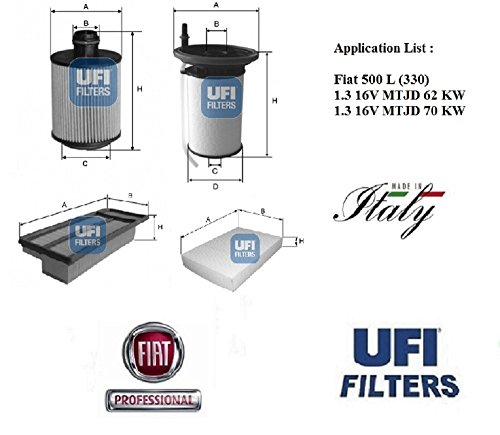 Preisvergleich Produktbild UFI Filter Fiat 500 L 1.3 16 V MTJD 62 - 70 kW