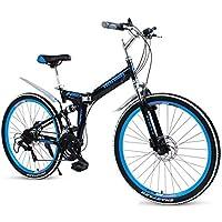LETFF Bicicleta Plegable De Montaña para Adultos, Bicicleta Plegable De 24