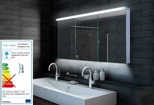 ▷ LED Spiegelschrank Bad - Badezimmer Spiegelschrank mit LED ... | {Spiegelschrank bad mit beleuchtung 74}