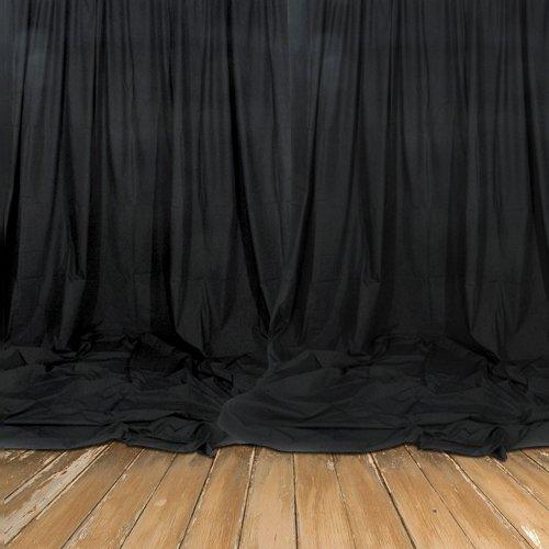 Bühnenmolton schwarz 1 lfm. 300gr./m² nach DIN 4102 B1 - 3m breit