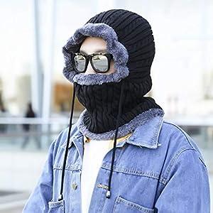 Keppels Dankbare Wintermaske für das ganze Gesicht, Winddicht, für Ski, Motorrad, Polar-Strick, Halstuch für Herren und Damen