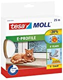 Tesa 05464-00100-00 Burlete de caucho perfil E, 25 m x 9 mm, color blanco