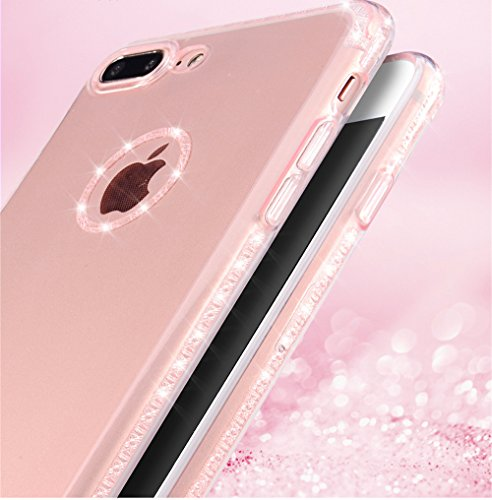 iPhone 7case-Ticase cover per Apple iPhone 7(2016) 11,9cm ultra sottile morbido silicone flessibile di glitter trasparente della protezione della pelle per iPhone 711,9cm