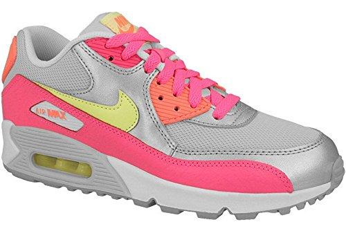 Nike Air Max 90 Mesh (GS) Schuhe pure platinum-liquid lime-metallic silver-pink- 37,5