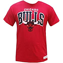 Mitchell & Ness NBA Chicago Bulls Team Arch Tee T Shirt T-Shirt Herren Mens