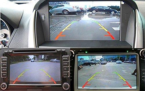 51f jFdeKzL - Freeauto Cámara de reserva de la vista posterior, microprocesador de CCD de la cámara de reserva del vehículo del estacionamiento universal del coche con vison impermeable de la noche con el cable de video y el cable de transmisión