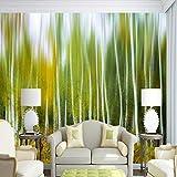 YUANLINGWEI Wandbild Tapete Benutzerdefinierte 3D Wandbilder Tapete Für Wohnzimmer Weiße Birke Hölzer Wandbeläge 3D Wandbilder Für Dekor,190Cm (H) X 270Cm (W)