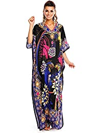 0b3faf792ef Looking Glam New Ladies Oversized Maxi Kimono Kaftan Tunic Kaftan Dress  Free Size
