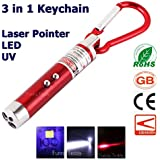 Funny Teddy Mini 3 in 1 - Red Laser Light + White Light + Money Detector with Carabineer Clip / Key Chain (1 Pc)