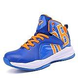 Elaphurus Herren Jungen Basketballschuhe Hohe Sneakers(Blau 43EU)