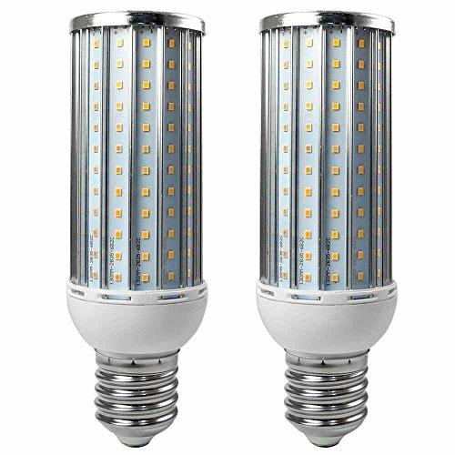 Granvoo 2Pcs E40 35W LED de maíz Luz Aleación de Aluminio Blanco Cálido 192X2835 SMD AC 140-265V