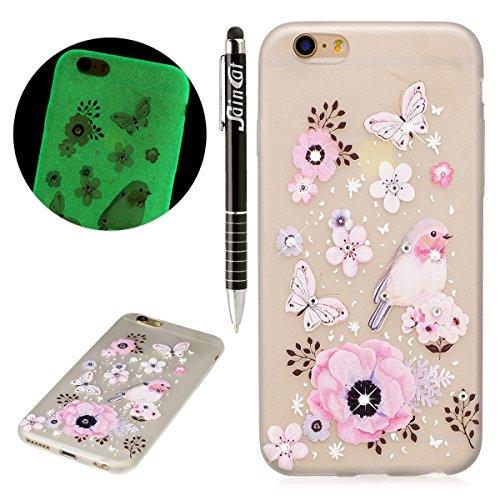 Coque iPhone 7 Plus Glitter, iPhone 7 Plus Coque Brillante, SainCat Ultra Slim Transparent TPU Case pour iPhone 7 Plus, Glitter Bling Diamante Strass Brillante Anti-Scratch Gel Housse Transparent Sili Heliconia