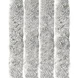Arsvita - Tenda in Pile, Poliestere, Unistreifen Silbergrau, 120 x 200 cm