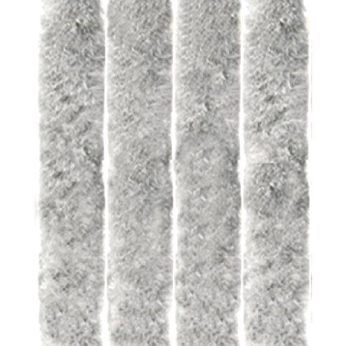 Arsvita Flausch-Vorhang, Viele Variationen, Größe: 90x200 cm, Farbe: Silbergrau
