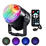 LED Mini Stage Lampe Party Lights 6 Farbe 6W Sound Crystal Ball Lampe DJ Disco RGB Audio Rotating Magic Laterne Christmas Party Performance
