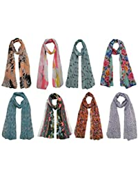 0e4e94e9c4e Letz Dezine Women s Poly Cotton Printed Scarf Stoles Dupatta (LDS889