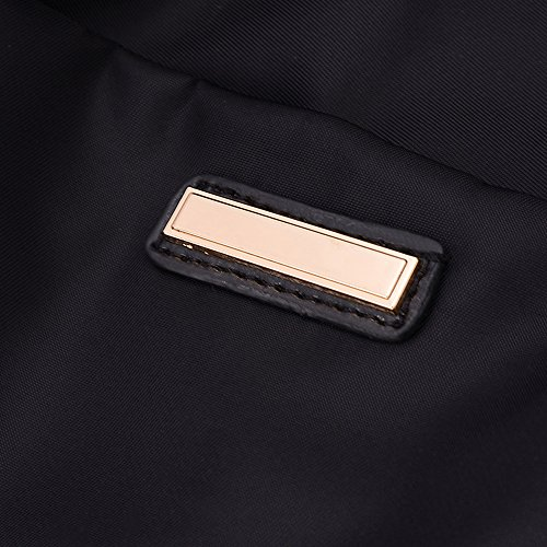 BYD - Donna Unisex Nylon impermeabile tela di canapa Borsa zaino School bag Backpack con Funzione multi tasche Viola