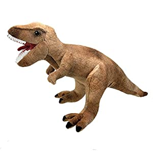 Wild Planet- All About Nature-32cm Tyrannosaurus Rex-Hecho a Mano, Peluche Realistico,, 36 cm (K8361)