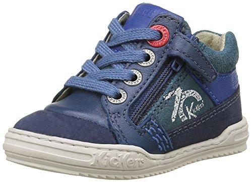 Kickers Jinjang, Chaussures Premiers Pas Bébé Garçon, Bleu, 21 EU