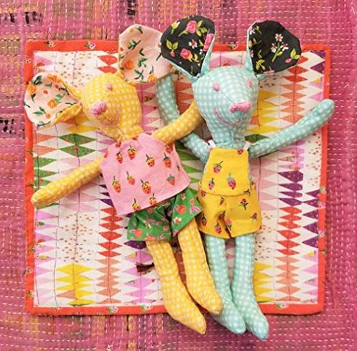 Windham Mäuse-Stoffpaneel - Trixie & Thomas - Machen Sie Ihr eigenes Stofftier - WIN174 - Platte misst 90 cm x 110 cm, 100% Baumwolle