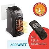 LIVINGTON Handy Heater 500 Watt inkl Fernbedienung Effektive Keramik Mini Heizung für die Steckdose Das TV Original von Mediashop
