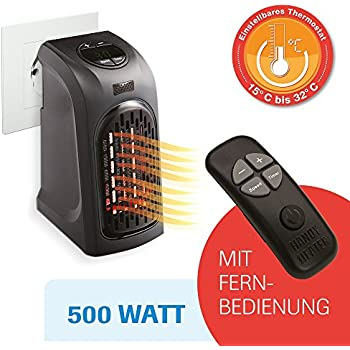 livington handy heater 370 watt effektive keramik mini heizung f r die steckdose das tv original. Black Bedroom Furniture Sets. Home Design Ideas