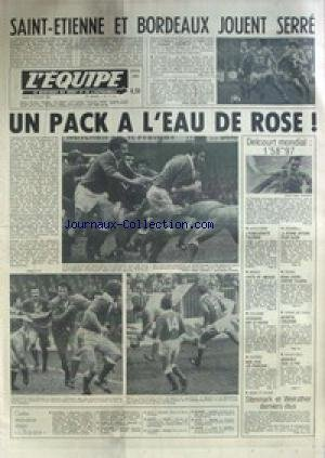 EQUIPE (L') [No 11116] du 08/02/1982 - ST-ETIENNE ET BORDEAUX JOUENT SERRE - RUGBY - DELCOURT - NATATION - ATHLETISME - ITALIE - BASKET - CYCLISME - LE PAVOIS - ESCRIME - HAND - TENNIS - NOAH ET TULASNE - TENNIS DE TABLE - VOLLEY. par Collectif