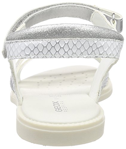 Geox Sandal Karly - Sandales Fille Argent (White/Silver)