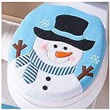 WC-Deckelbezug, artistic9(TM) Weihnachten Schneemann/Hund/Santa Flanell Deckel Single WC-cover-washable, Flanell, schneemann, 35.5cmX43cm