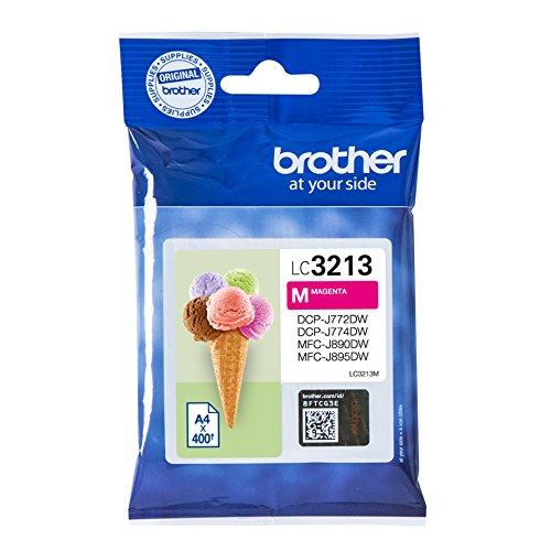 Preisvergleich Produktbild Brother LC-3213M Tintenpatrone (400 Seiten, geeignet für Brother DCP-J772DW, DCP-J774DW, MFC-J890DW, MFC-J895DW) magenta
