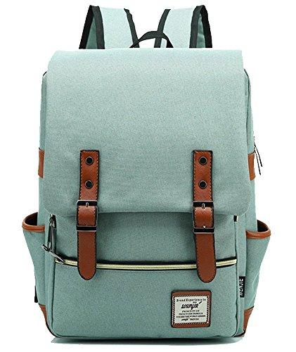 freemaster-vintage-casual-unisex-zaino-scuola-borsa-da-viaggio-zaino-daypack-tablet-borse-green-rosa