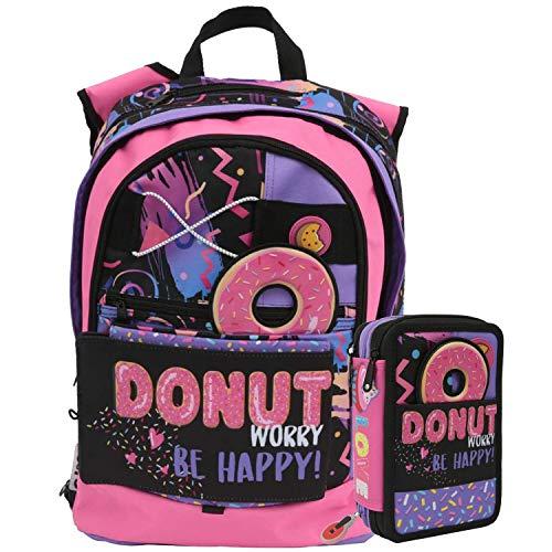 Schoolpack zaino gopop donut 5 in 1 + astuccio completo giochi preziosi