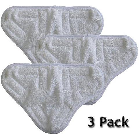 tmodd nuevo conjunto de microfibra mopa eléctrica de vapor lavable almohadillas de repuesto para H20H2O