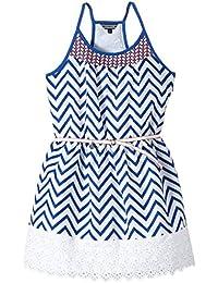 Tommy Hilfiger - Lola Stripe Dress Slvls, Vestito da bambine e ragazze