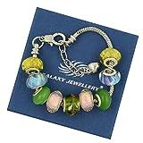 Bracelet Charm coloré - cadeau idéal pour les femmes et les filles - Livré avec une boîte cadeau
