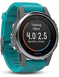 Garmin Fēnix 5S Smartwatch Gps-Multisportuhr, Silber, Armband Türkis, 42 mm