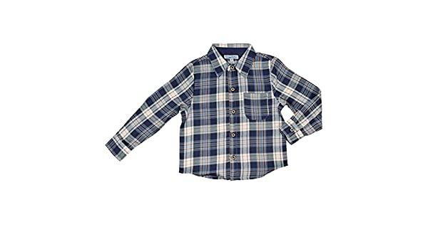 CrayonFlakes Blue Check Design Shirt in 100/% Cotton /& Long Sleeve