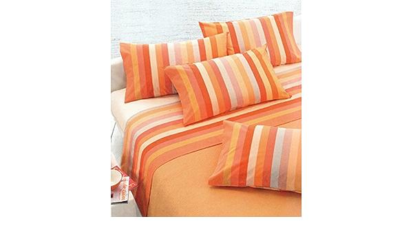Home Garden Completo Lenzuola Arancio Gabel Su Madopolam Puro Cotone Lenzuolo Alta Qualita Bedding