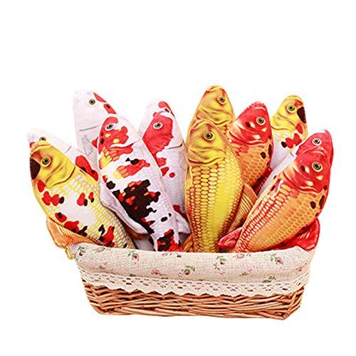 DvfeeL 16/30/60 cm Kinder Plüschtiere Karpfen Fisch Kissen Tier Weiche Stoffpuppen Lustige Kinder Spielzeug Mädchen Jungen Geburtstagsfeier Geschenke -