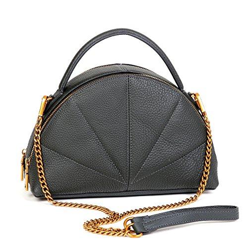 Ceinture en cuir noir d'origine en cuir rétro épaule petit sac portable surbaissé Black