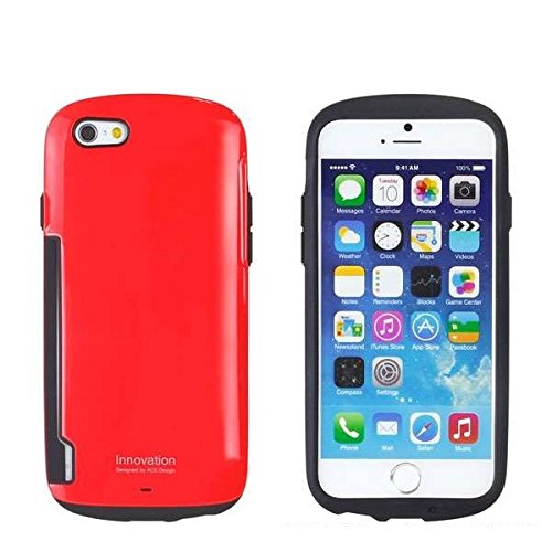 iFace Innovation 5.5 inch Case for iPhone 6 Plus Apple New iPhone 6 Plus Case 2014 Model 5.5 inch (Orange) Red