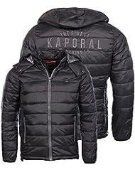 Kaporal homme - Doudoune Nunt noir à capuche hiver 2016/17