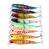 HENGJIA 8 unidades multi-jointed señuelo de pesca 1/2oz 4 '/10.5 cm Minnow Bass Tackle...