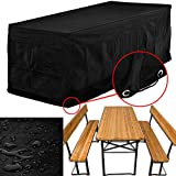 Cover garden furniture set with backrests - benches and table protection beer set