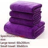 Lavado de coche coche toallas toallas para absorber agua espesa tela especial , Auto Supplies ,60*200cm morado