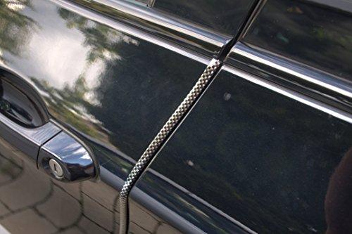 Preisvergleich Produktbild 4 Meter Türkantenschutz Carbon Look / schwarz Türrammschutz Gummi schützen Sie effektiv Ihren kostenbaren Auto Lack